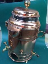 ANTIQUE VICTORIAN  COPPER / BRASS WATER TEA URN GAS BOILER 1900's  GREAT DISPLAY