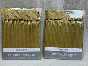 Crate & Barrel Gold Ribbon Ornament Hangers