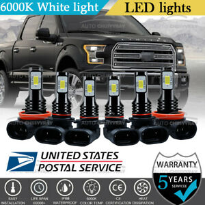 Fit For 2015-2020 Ford F 150 LED Front Headlight High Low Beam + Fog Light Bulbs