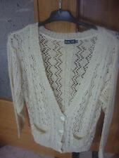 REBAJAS preciosa chaqueta rebeca punto ganchillo crochet  mujer TALLA xl 44 46
