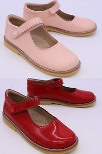 ELEPHANTITO GIRL'S YOUTH SIZE 2 MARY JANE SHOES CHOOSE COLOR RED PATENT or PINK