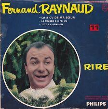 Disque 45 tours Fernand RAYNAUD La 2 CV de ma sœur 1961