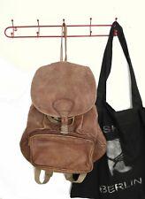 d718ba79e644d Rucksack braun Leder 90er TRUE VINTAGE 90s backpack brown Hippie leather  Tasche