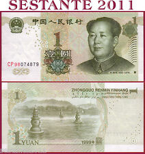 CHINA CINA - 1 YUAN 1999 - 2 letter and 2 number prefix -  P 895a - FDS / UNC