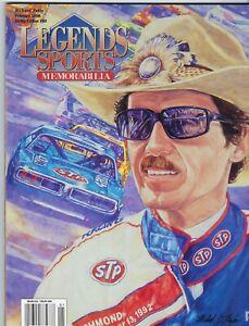 Legends Sports Memorabilia Feb 1998 Richard Petty - W/ attached sports cards !!