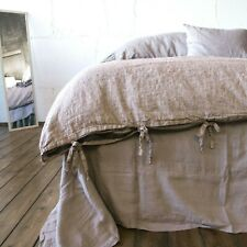 LINEN DUVET COVER linen bedding linen duvet with TIES Twin Double Queen King