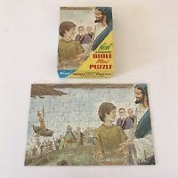 Vintage Bible Mini Jigsaw Puzzle by Standard - Feeding the 5000 COMPLETE Jesus
