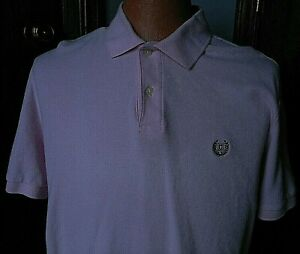 """Chaps Pink Polo Shirt Mens Large 42"""" Chest Short Sleeve Pre-owned Solid Color"""
