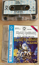 IRON MAIDEN - Live After Death MC RARE 1'ST POLISH PRESS 1990 MG