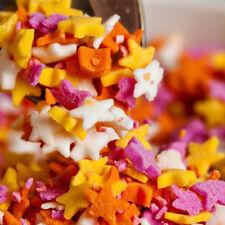 Natural 4 Colour Sugar Stars Cake Sprinkles