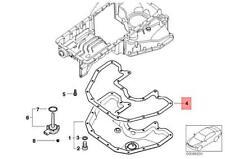 Genuine BMW ROLLS-ROYCE Alpina Drophead Phantom B7 E60 Gasket Steel 11137506774