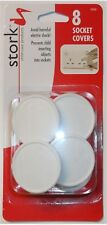 STORK CHILD CARE SOCKET COVERS UK - 8PK - NEW