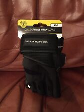 Golds Gym Classic Wrist Wrap Gloves Weight Lifting  SIZE XS/S.   A14