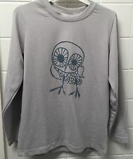 Boys Girls Size 6-7 Grey Owl Three Little Trees Designer Tee Top New BNWT Winter
