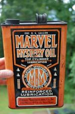 RARE ANTIQUE MARVEL MYSTERY OIL ORANGE Gal. CAN EMEROL N.Y ADVERTISING GAS SIGN