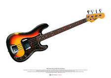 James Jamerson's 1962 Fender Precision Bass ART POSTER A2 size