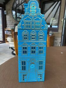 Fun Christmas Collectable M&S Metal Musical Tall House Biscuit Tin Empty