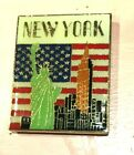 New York City Statue Liberty Flag Empire State Building Magnet Refrigertor