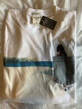 ABERCROMBIE & FITCH MUSCLE LARGE WHITE T SHIRT BNWTS