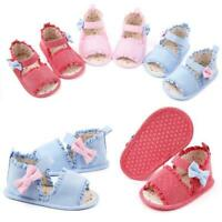 Baby Girls No-slip Sandals Toddler Infant Newborn Close Toe Shoes 3-11 Month New