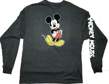 Mickey Mouse Long Sleeved Men's Graphic Tee T-Shirt Size XL