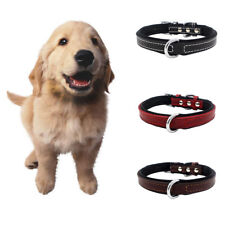EE_ ND_ Adjustable Faux Leather Puppy Pet Dog Collar Necklace Diving Cloth Neck