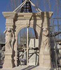 BEAUTIFUL HAND CARVED MARBLE MAN OF THE MOUNTAIN ESTATE ENTRY WAY -MDS1