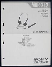 Sony mdr-2l2 ORIGINAL Écouteurs Stéréo / Casque écouteurs Manuel de service O150