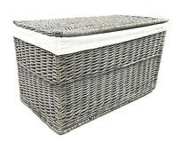 Grey Wicker Or Tapered Baby Nursery Storage Basket Chest Trunk Toy Blanket Box