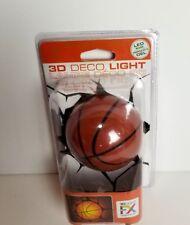 3D Light FX Basketball Night Light 3 Dimensional Effect Orange Black Deco Wall