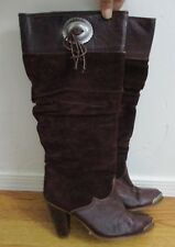 Zodiac 7M Women's USA Western Brown leather suede southwest cowgirl boots