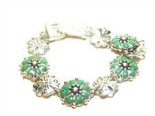 Blue Enamel Flower Bracelet