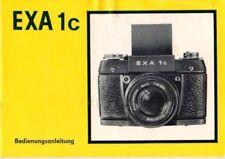 PENTACON - EXA 1c - Bedienungsanleitung für Kamera - K44