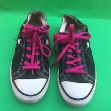 Converse One Star women's fashion canvas black shoes size -8.5