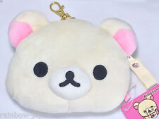 New Cute Rilakkuma Relax Polar Bear Plush Retractable Reel ID Card Coin Holder
