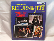 STAR WARS RETURN OF THE JEDI STICKER ALBUM PRODUCED BY TOPPS IN 1983