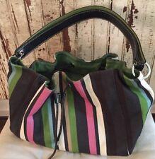 Authentic Kate Spade New York Multi Striped Canvas bag Purse designer small