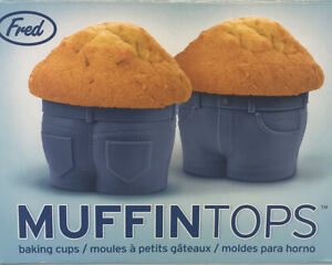 Set Of 4 Muffin-Tops Cupcake Muffin Molds Silicone Baking Cups Novelty By Fred