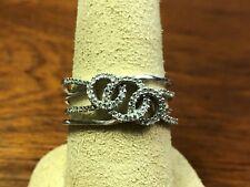 Sterling Silver 925 Interlocking Circles Ring - Size 9, 3.4 Grams, 69 small Dia.