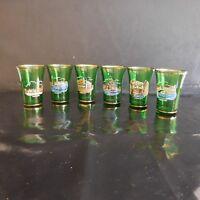 N2804 6 verres liqueur VENEZIA made in ITALY vintage art nouveau déco PN France