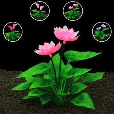 Fish Tank Artificial Lotus Flower Ornament Aquarium Plants Water Lotus Dec YRDE