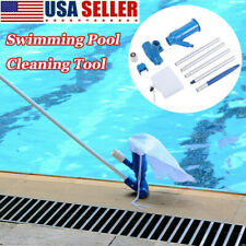 Swimming Pool & Spa Pond Fountain Vacuum Cleaner Brush Cleaning Kit Above Ground