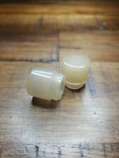 2 clear White DIALIGHT Dialco 135 Lens Covers. Vintage.