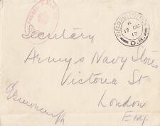 MILITARY : 1917 FIELD POST OFFICE/D.8 on envelope