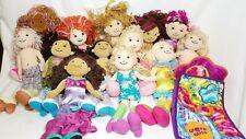 13 Groovy Girls Plush Dolls Lot & Sleeping Bag