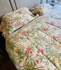 Chaps Ralph Lauren Floral Botanical King Size Comforter And 2 Pillowcases Shams