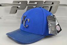 Kansas City Royals Black Metal Logo Curved Brim Strapback Pro Standard MLB Hat