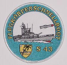 Marine Aufnäher Patch Flugkörperschnellboot S43 - 3. SG ..........A5199