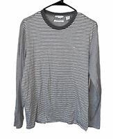 Calvin Klein Long Sleeve Crewneck T-Shirt Liquid Touch Polo Men's Size Medium