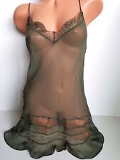 Victoria's Secret Very Sexy Lingerie Babydoll All-Over Lace Slip Small NWT